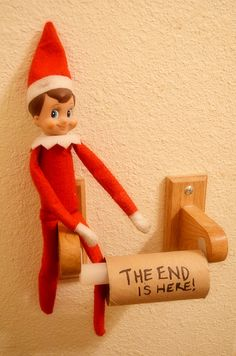 Our funny little elf on the shelf