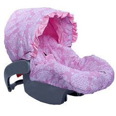 Pink A Bella Infant Car Seat Cover Includes Coordinating Straps!  On Sale for $65.00