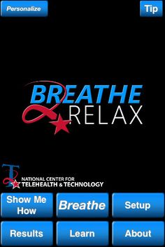 Breathe2Relax ($0.00) Breathe2Relax is a portable stress management tool which provides detailed information on the effects of stress on the body and instructions and practice exercises to help users learn the stress management skill called diaphragmatic breathing.Breathing exercises have been documented to decrease the body's 'fight-or-flight' (stress) response, and help with mood stabilization, anger control, and anxiety management.