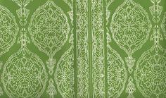 Harem Print  White on Green