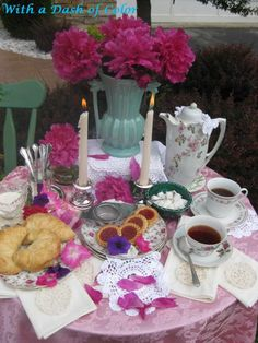A Spring Tea tablescape