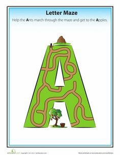 FREE! Alphabet Mazes