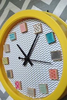 Washi tape and Mod Podge Dimensional Magic clock