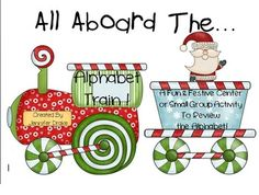 Christmas Alphabet Train!  Great Center, Game, Review & As
