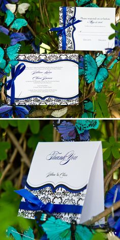 "Theme your garden wedding right down to the stationery with our ""Love Bird Damask"" Collection. See the whole collection here: http://www.weddingstar.com/wedding-stationery/love-bird-damask-stationery-collection"