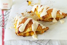 Peach Turnovers with Sweet Peach Glaze by www.whatscookingwithruthie.com