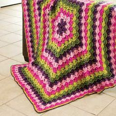 Ring of Flowers Bavarian Crochet Throw