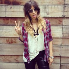 Peace & plaid.