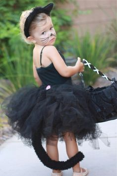 Kitty Cat costume Infant thru Adult. $52.00, via Etsy. Looks easy enough to make..