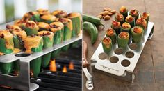 chile, gift ideas, gadget, pepper grill, chili peppers, grills, jalapeno poppers, grill rack, stuffed peppers