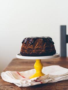 chocolate stout cake with whiskey ganache (dairy-free)