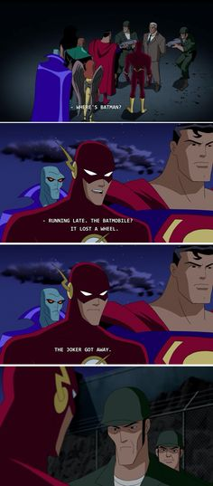 The Flash is a fan of children's Christmas parodies. | 22 Times The Justice League Proved Their Superpower Is Sass