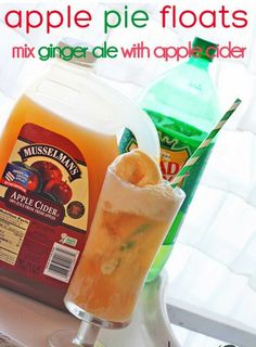 Apple Pie Floats - cool Idea for easy Fall dessert!