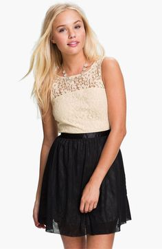 Frenchi® Lace Bodice Dress (Juniors) available at #Nordstrom