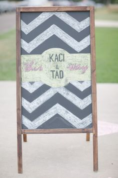 Chevron Wedding Sign / via Inspired By This