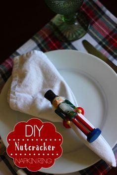 DIY nutcracker napkin ring