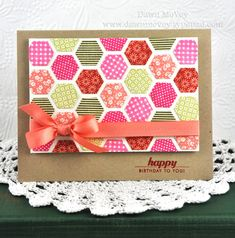 Happy Birthday to You. PTI. Happy Hexagons die and stamps