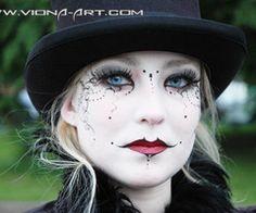 halloween beauti, costum, dark beauti, gothic makeup, halloween makeup, makeup ideas, art makeup, dot, eye