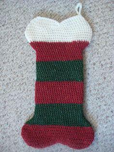 CROCHET DOG BONE STOCKING PATTERN Crochet Patterns Only