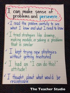 Nice lesson on teaching perseverance that includes math problem freebie