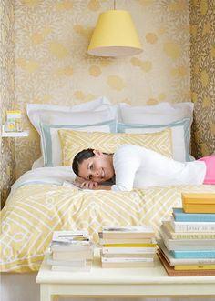 Wallpapered sleeping nook :)
