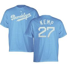 Los Angeles Dodgers Matt Kemp Cooperstown Throwback Name and Number T-Shirt