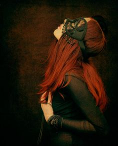 red head with black mask
