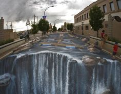 Cool street illusion