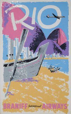 Rio Braniff International Airways #travel #poster