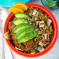 5-Step Vegan Protein Taco Bowl with Fiesta Rice and Beans.