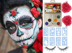 How to Create Pretty Calavera Face Paint For Dia de Lost Muertos