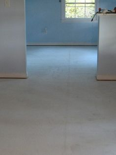 show step by step of how to pull up carpet and paint subfloors.