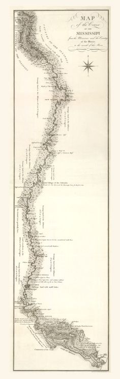 Mississippi River Map, 1826