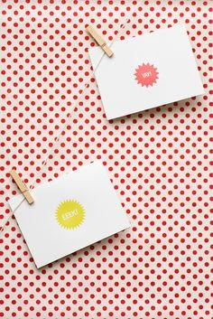 yay! and eeek! cards.
