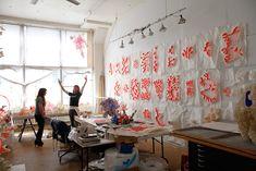 Mary Button Durell's workspace