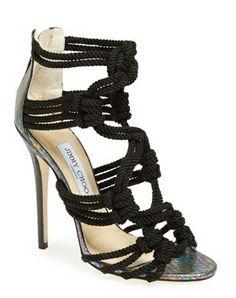 Jimmy Choo 'Kalmer' braided rope sandals