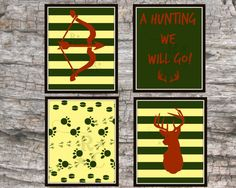 8X10 boys hunting deer tracks outdoors arrow by Raising3Cains, $7.99