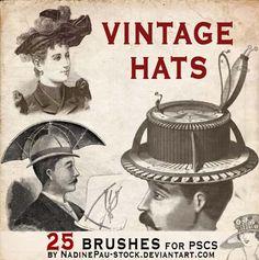35 Sets of Cool yet Free Vintage Style Photoshop Brushes #free #brush #vintage