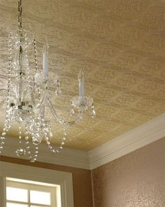 Ceiling paper , powder room, maybe?
