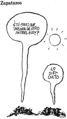 Caricatura de Zapata en la página de Opinión. (PEDRO LEON ZAPATA / ARCHIVO EL NACIONAL). Publicada: 02-07-1981