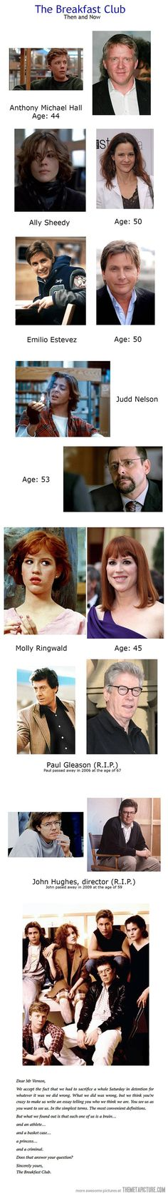 The Breakfast Club: then and now
