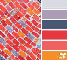 tiled brights #color #palette
