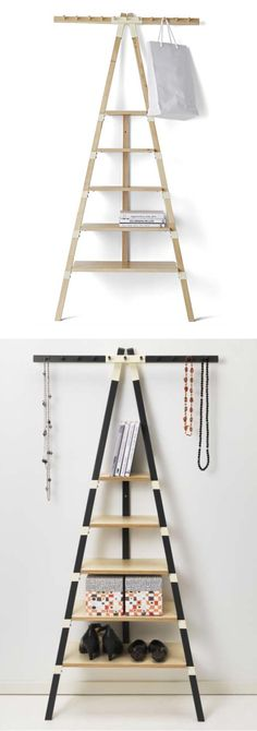 IKEA PS 2014 wall shelf with knobs. Perfect for all your small spaces that are organizationally challenged.
