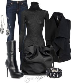 """""""Into the Black"""" by orysa ❤ liked on Polyvore"""