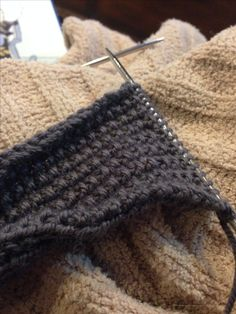 . K1 P1 on row 1 and knit row 2. Repeat these two rows.