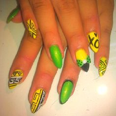 Lemon lime nails inspired by nails by regina