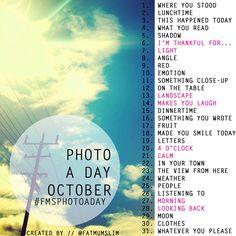 October photo a day challenge | #FMSphotoaday | fat mum slim