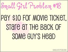 Front row seats solve this. #petite #short_girl #problems