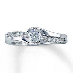 Kay - Diamond Engagement Ring 1/2 ct tw Round-cut 14K White Gold