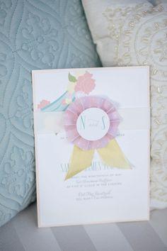 ribbon wedding invite http://www.weddingchicks.com/2013/12/03/carousel-wedding-ideas/